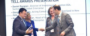 Axalta received the Tell Award by Switzerland Global Enterprise. Image Credit: BaselArea.swiss