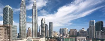 Panoramic vies of the financial center of Malaysia