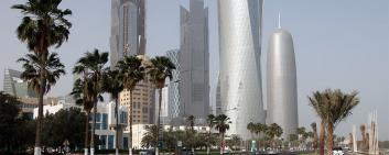 High-rise buildings in Doha