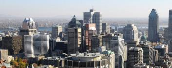 Skyline of Montreal.