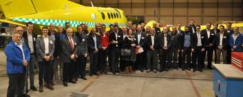 Swiss Aerospace Cluster members at one of their company visits (Aerolite AG) in January 2019